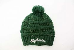 HARRY POTTER -  SLYTHERIN BEANIE WITH POMPOM - GREEN