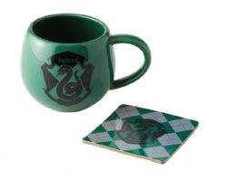 HARRY POTTER -  SLYTHERIN MUG AND COASTER - GREEN