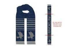 HARRY POTTER -  STRIPED MARLED JACQUARD SCARF - GREY/BLUE -  RAVENCLAW