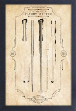 HARRY POTTER -  WAND OF HARRY - FRAMED PICTURE (13