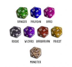 HERO MASTER : AN EPIC GAME OF EPIC FAILS -  CLASS THEMED DICE