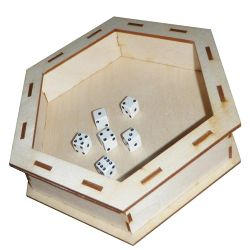 HEX DICE TRAY - BIRCH