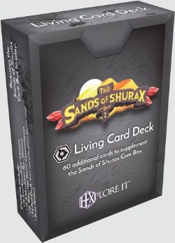 HEXPLORE IT -  THE SANDS OF SHURAX - LIVING CARD DECK (ENGLISH)