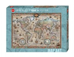 HEYE -  RETRO WORLD (1000 PIECES) -  MAP ART