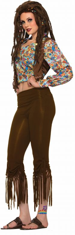 HIPPIES -  FRINGED PANTS COSTUME (ADULT)