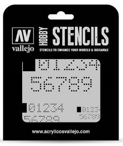 HOBBY STENCILS -  DIGITAL NUMBERS (125 X 125MM)