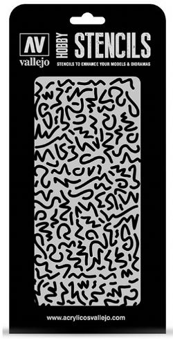 HOBBY STENCILS -  LUTFWAFFE WWII SHINGLES CAMO (125 X 250MM)