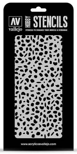 HOBBY STENCILS -  LUTFWAFFE WWII SPOTS CAMO (125 X 250MM)