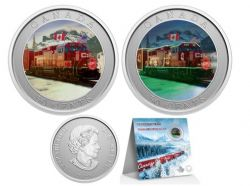 HOLIDAY LENTICULAR COINS -  CP HOLIDAY TRAIN -  2022 CANADIAN COINS 12
