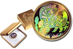 HOLOGRAPHIC CHINESE LUNAR CALENDAR -  YEAR OF THE HORSE -  2002 CANADIAN COINS 03