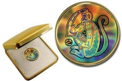 HOLOGRAPHIC CHINESE LUNAR CALENDAR -  YEAR OF THE MONKEY -  2004 CANADIAN COINS 05