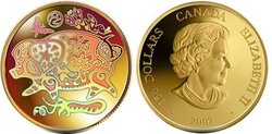 HOLOGRAPHIC CHINESE LUNAR CALENDAR -  YEAR OF THE PIG -  2007 CANADIAN COINS 08