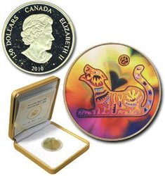HOLOGRAPHIC CHINESE LUNAR CALENDAR -  YEAR OF THE TIGER -  2010 CANADIAN COINS 11