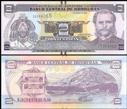 HONDURAS -  2 LEMPIRAS 2012 (UNC)