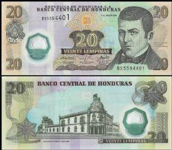 HONDURAS -  20 LEMPIRAS 2008 (UNC)
