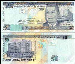 HONDURAS -  50 LEMPIRAS 2010 (UNC)