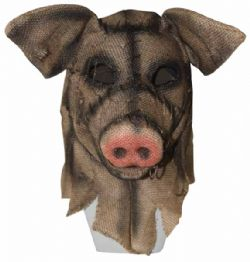 HORROR -  BURLAP MASK - PIG