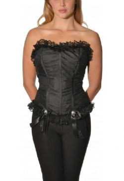 HORROR -  CORSET FROM THE CRYPT - BLACK (ADULT - ONE SIZE)
