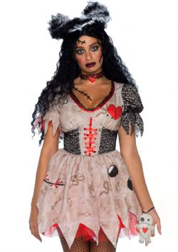 HORROR -  DEADLY VOODOO DOLL COSTUME (ADULT - PLUS SIZE)