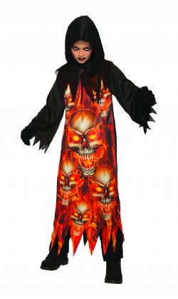 HORROR -  FIRE REAPER COSTUME (CHILD - SMALL 4-6)