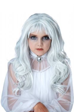 HORROR -  GHOST WIG - WHITE (ADULT)