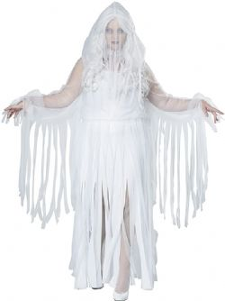 HORROR -  GHOSTLY SPIRIT COSTUME (ADULT - PLUS SIZE 1X 16-18)