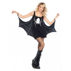 HORROR -  JERSEY SPIDERWEB DRESS (ADULT)