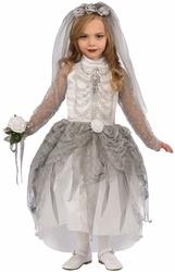 HORROR -  SKELETON BRIDE COSTUME (CHILD)