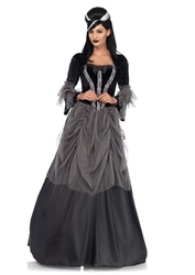 HORROR -  VICTORIAN BALL GOWN - BLACK (ADULT)