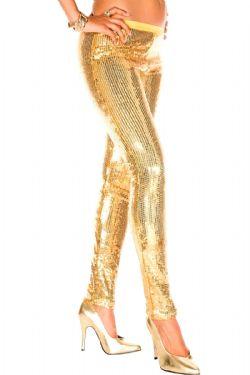 HOSIERY -  GLITTERY GOLD - ONE-SIZE -  LEGGINGS