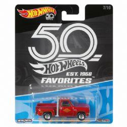 HOT WHEELS -  '78 DODGE LI'L RED EXPRESS TRUCK -  50TH ANNIVERSARY FAVORITES 7/10