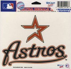 HOUSTON ASTROS -  DECAL 5X6 REMOVABLE AND REUSABLE