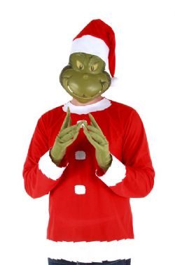 HOW THE GRINCH STOLE CHRISTMAS! -  GRINCH SANTA COSTUME (ADULT - LARGE/XLARGE)
