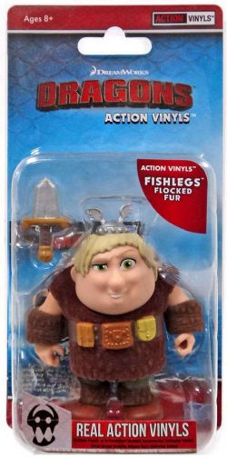HOW TO TRAIN YOUR DRAGON -  FISHLEGS FLOCKED FUR ACTION VINYLS (3 INCH)