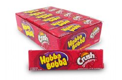 HUBBA BUBBA -  BUBBLE GUM - CRUSH STRAWBERRY