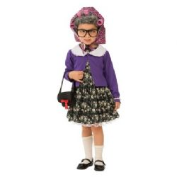 HUMOR -  LITTLE OLD LADY COSTUME (CHILD)