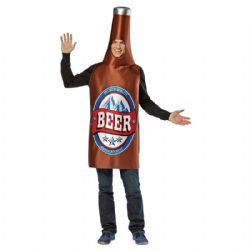HUMORISTIC -  BEER BOTTLE COSTUME (ADULT - ONE SIZE)