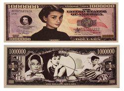 HUMORISTIC BILLS -  AUDREY HEPBURN - UNITED STATES ONE MILLION DOLLARS BILL