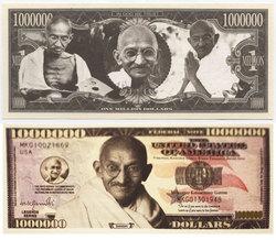 HUMORISTIC BILLS -  GANDHI - UNITED STATES ONE MILLION DOLLARS BILL