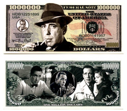HUMORISTIC BILLS -  HUMPHREY BOGART - UNITED STATES ONE MILLION DOLLARS BILL