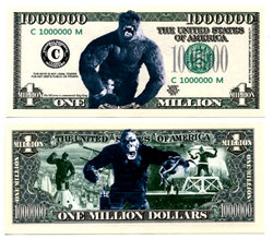 HUMORISTIC BILLS -  KING KONG - UNITED STATES ONE MILLION DOLLARS BILL