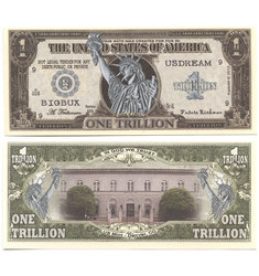 HUMORISTIC BILLS -  LIBERTY - UNITED STATES ONE TRILLION DOLLARS BILL
