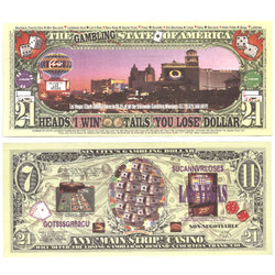 HUMORISTIC BILLS -  MAIN STRIP LAS VEGAS - UNITED STATES 21 DOLLARS BILL