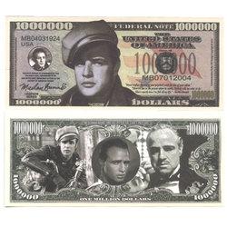 HUMORISTIC BILLS -  MARLON BRANDO - UNITED STATES ONE MILLION DOLLARS BILL