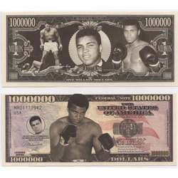 HUMORISTIC BILLS -  MOHAMMED ALI - UNITED STATES ONE MILLION DOLLARS BILL