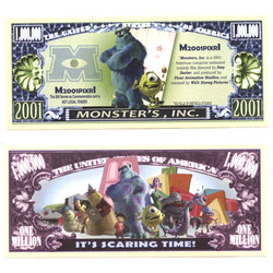 HUMORISTIC BILLS -  MONSTERS, INC. - UNITED STATES ONE MILLION DOLLARS BILL