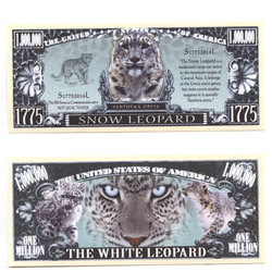 HUMORISTIC BILLS -  SNOW LEOPARD - UNITED STATES ONE MILLION DOLLARS BILL