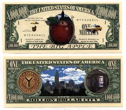 HUMORISTIC BILLS -  THE BIG APPLE - UNITED STATES ONE MILLION DOLLARS BILL
