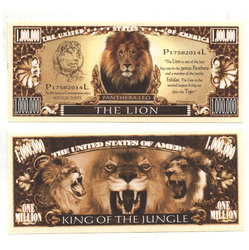 HUMORISTIC BILLS -  THE LION - UNITED STATES ONE MILLION DOLLARS BILL