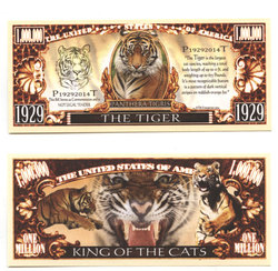 HUMORISTIC BILLS -  THE TIGER - UNITED STATES ONE MILLION DOLLARS BILL